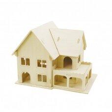 3D medinis konstruktorius - Namas su veranda