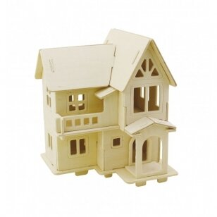 3D medinis konstruktorius - Namas su balkonu