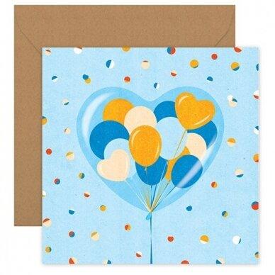 """Atvirukas """"Meilės balionas"""""""