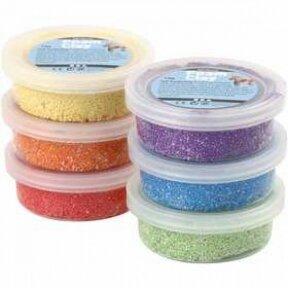 Burbulinis modelinas - 6 ryškios skirtingos spalvos