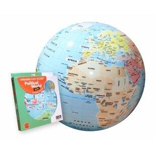 """CALY Pripučiamas gaublys-kamuolys """"Pasaulis"""", 42 cm"""