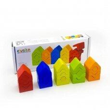 """Edukacinės medinės piramidės """"EKO bokštai"""""""