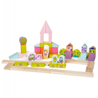"""Cubika medinių kaladėlių rinkinys """"Miestas mergaitei"""" 3"""