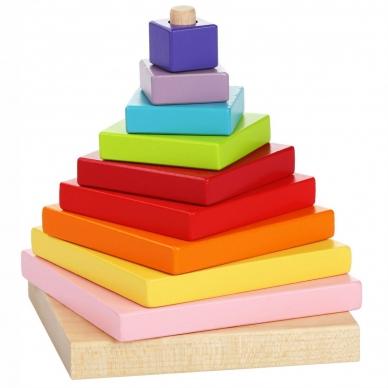 """Cubika medinių kaladėlių rinkinys """"Piramidė"""" 2"""