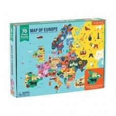 """Geografinė dėlionė """"Europa"""", 70dalių"""