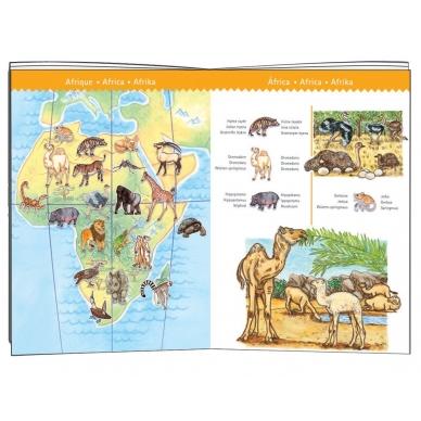 """Dėlionė """"Pasaulio gyvūnai"""", 100 dalių 4"""