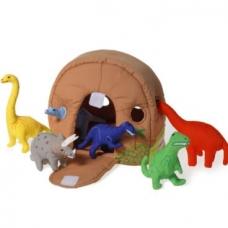 Dinozaurų namas su 6 dinozaurais