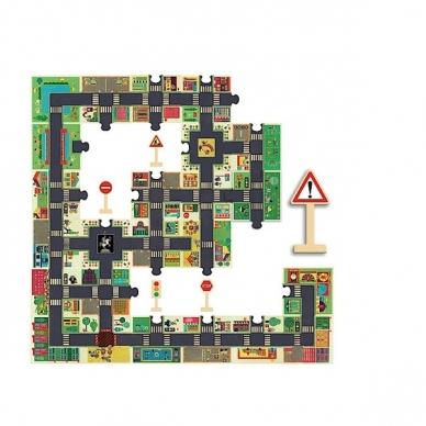 """Didelė dėlionė - kilimas """"Miestas"""", 24 dalys 5"""