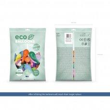 "Ekologiški balionai ""Pasteliniai spalvoti"", 26cm, 100vnt"
