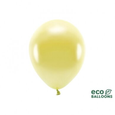 "Ekologiški balionai ""Metalik šviesaus aukso"" 10vnt"