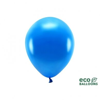 "Ekologiški balionai ""Metalik tamsiai mėlyni"" 10vnt"