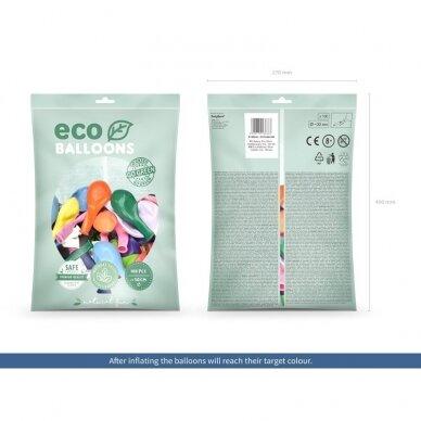 "Ekologiški balionai ""Metalik spalvoti"", 30cm, 100vnt  2"