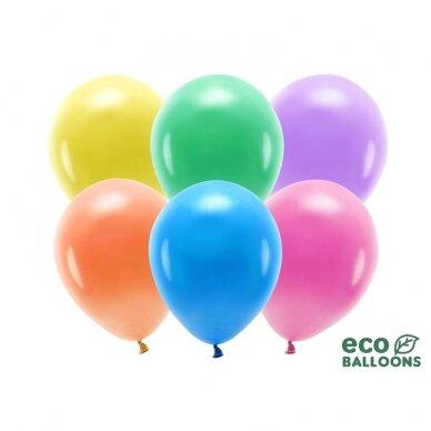 "Ekologiški balionai ""Pasteliniai spalvoti"", 26cm, 100vnt 2"
