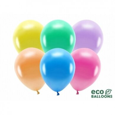 "Ekologiški balionai ""Metalik spalvoti"", 26cm, 100vnt"