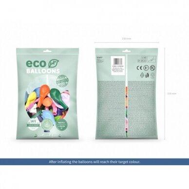 "Ekologiški balionai ""Metalik spalvoti"", 26cm, 100vnt 2"