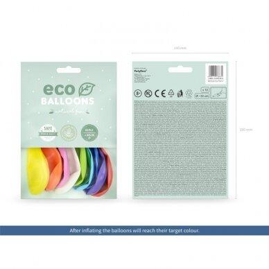 "Ekologiški balionai ""Pasteliniai spalvoti"", 26 cm, 10vnt  2"