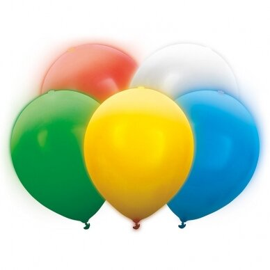 "LED balionų rinkinys ""Margi"" 5 vnt 2"
