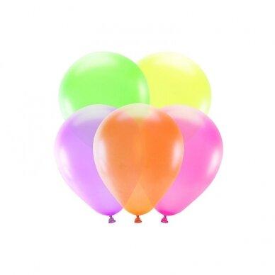 Ryškiaspalvių balionų rinkinys 25 cm, 5vnt 2