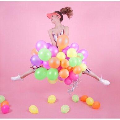 Ryškiaspalvių balionų rinkinys 25 cm, 5vnt 3