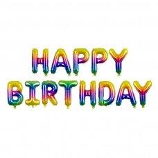 "Foliniai balionai  ""HAPPY BIRTHDAY"" margi"