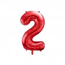 """Folinis balionas """"2"""" raudonas, 86 cm"""