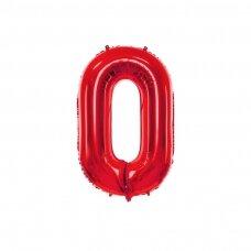 """Folinis balionas """"0"""" raudonas, 86 cm"""