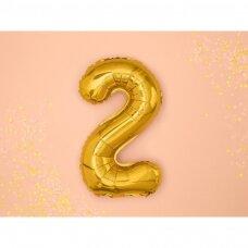 "Folinis balionas  ""2"" auksinis, 35 cm"