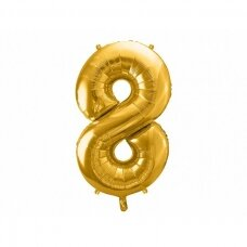 "Folinis balionas  ""8"" auksinis, 86 cm"