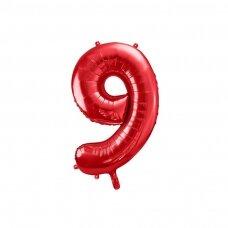 """Folinis balionas """"9"""" raudonas, 86 cm"""