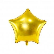 """Folinis balionas """"Žvaigždė"""" 70cm auksinis"""