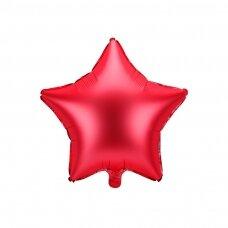 """Folinis balionas """"Žvaigždė"""" raudonas 48 cm"""