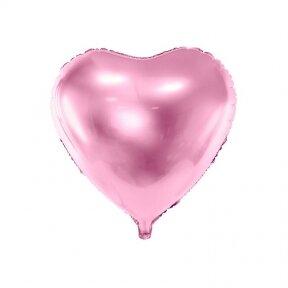 """Folinis balionas """"Širdelė"""" 45cm šviesiai rožinis"""