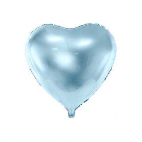 """Folinis balionas """"Širdelė"""" 45cm melsvas"""