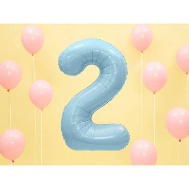"Folinis balionas  ""2"" melsvas, 86 cm 2"