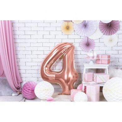 """Folinis balionas """"4"""" rožinio aukso, 86 cm 2"""