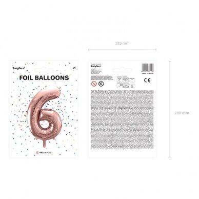 """Folinis balionas """"6"""" rožinio aukso, 86 cm 4"""