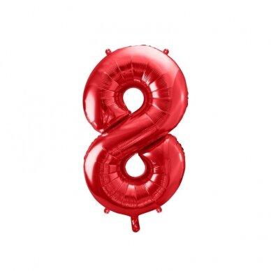 """Folinis balionas """"8"""" raudonas, 86 cm"""
