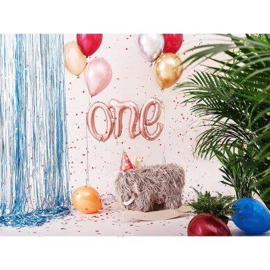 """Folinis balionas """"One"""" rožinio aukso 2"""