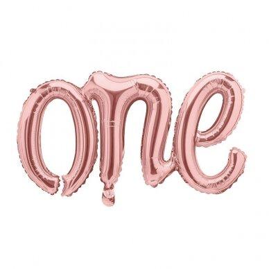"""Folinis balionas """"One"""" rožinio aukso"""