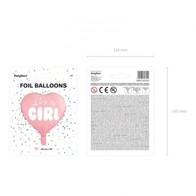 "Folinis balionas ""It's a Girl"" 5"