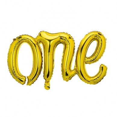 "Folinis balionas ""One"" auksinis"