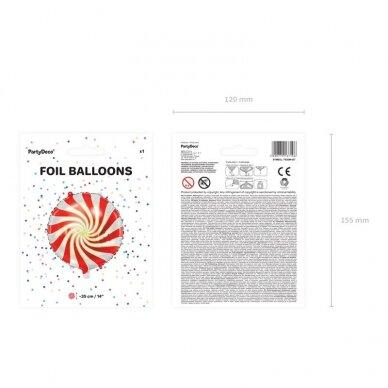 """Folinis balionas """"Saldainis"""" raudonas, 35cm 3"""