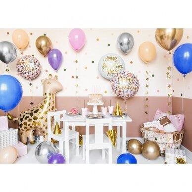 "Folinis balionas ""Happy birthday"" baltas 35 cm 3"