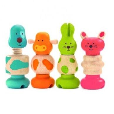 """Djeco lavinamasis susukumas medinis žaislas """"Gyvūnai"""" 2"""