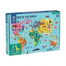"""Geografinė dėlionė """"Pasaulis"""", 78 dalių"""