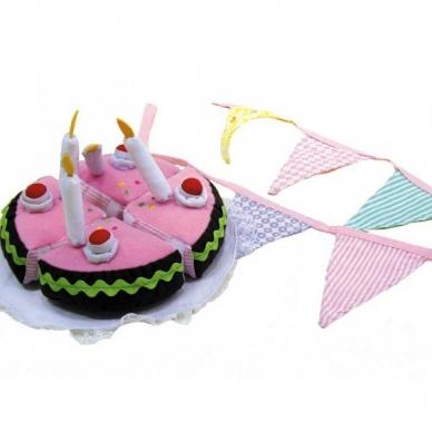 Gimtadienio tortas su girlianda 6
