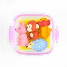 """IWAKO trintukų – dėlionių rinkinys priešpiečių mini dėžutėje """"Animal"""""""