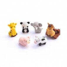 """IWAKO trintukas """"Gyvūnas"""" (žirafa, panda arba drambliukas)"""