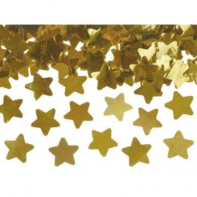 """Konfeti patranka """"Auksinės žvaigždutės"""" 40cm 3"""
