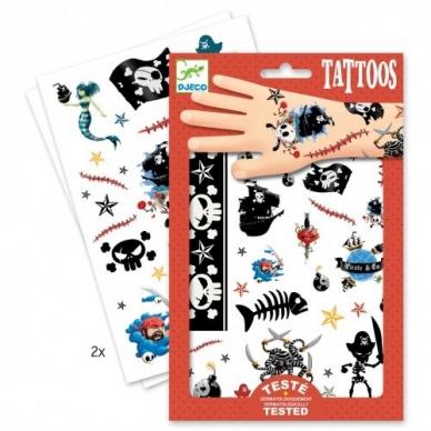 """Laikinosios tatuiruotės vaikams """"Piratai"""" 2"""